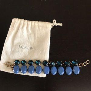 J. Crew Blue Statement Bracelet